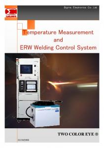 Temperature Measurement and ERW Welding Control System