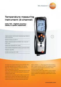 Temperature measuring instrument (3-channel)