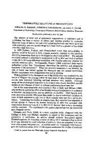 TEMPERATURE RELATIONS IN PHAGOCYTOSISI
