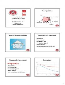 Temperature Static Pressure Air Inlet Air Pig Level Relative Humidity Gases (Ammonia, Carbon Dioxide, etc