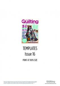 TEMPLATES Issue 16 PRINT AT 100% SIZE