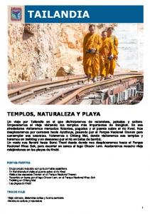 TEMPLOS, NATURALEZA Y PLAYA