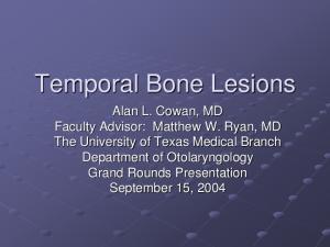 Temporal Bone Lesions