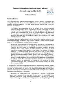 Temporal lobe epilepsy and Dostoyevsky seizures: Neuropathology and Spirituality