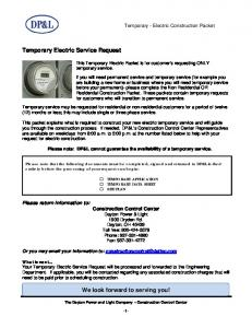 Temporary Electric Service Request