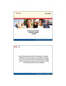 Temporary Foreign Worker Program (TFWP)