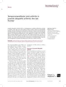 Temporomandibular joint arthritis in juvenile idiopathic arthritis: the last frontier