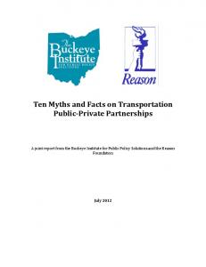 Ten Myths and Facts on Transportation Public-Private Partnerships