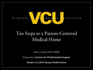 Ten Steps to a Patient-Centered Medical Home