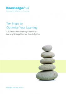 Ten Steps to Optimise Your Learning