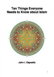 Ten Things Everyone Needs to Know about Islam