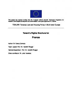 Tenant s Rights Brochure for France