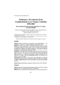Tendencia y Prevalencia de las Geohelmintiasis en La Virgen, Colombia