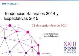 Tendencias Salariales 2014 y Expectativas 2015