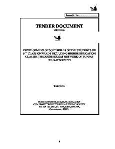 TENDER DOCUMENT (REVISED)