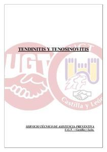 TENDINITIS Y TENOSINOVITIS