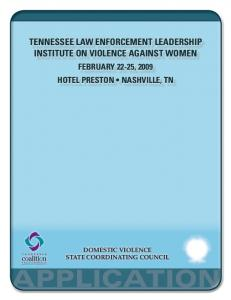 tennessee law enforcement leadership institute on violence against women