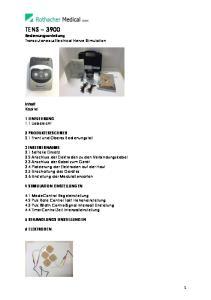 TENS 3900 Bedienungsanleitung TranscutaneousElectrical Nerve Stimulation