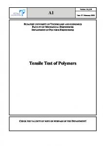 Tensile Test of Polymers