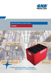 TENSOR. »The high performance battery for demanding requirements and maximum efficiency«