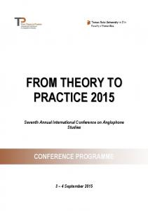 TENTATC. Seventh Annual International Conference on Anglophone Studies CONFERENCE PROGRAMME