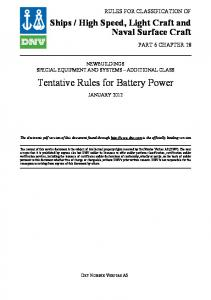 Tentative Rules for Battery Power
