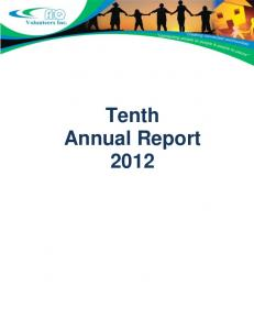 Tenth Annual Report 2012