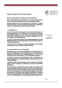 Tenure-Leitfaden der TU Darmstadt