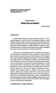 TEORIA DE LAS NORMAS