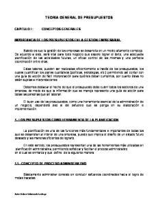TEORIA GENERAL DE PRESUPUESTOS