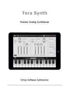 Tera Synth!! Modular Analog Synthesizer!!!!!!!!!!!!!!!!!!!!!! VirSyn Software Synthesizer!