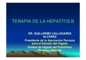TERAPIA DE LA HEPATITIS B