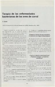 Terapia de las enfermedades bacterianas de las aves de corral
