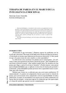 TERAPIA DE PAREJA EN EL MARCO DE LA INTELIGENCIA EMOCIONAL