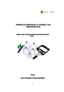 TERAPIAS ALTERNATIVAS: EL CUPPING Y LOS FISIOTERAPEUTAS