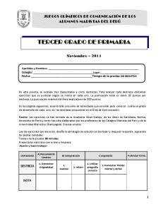 TERCER GRADO DE PRIMARIA