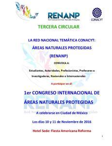 TERCERA CIRCULAR. 1er CONGRESO INTERNACIONAL DE