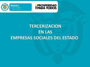 TERCERIZACION EN LAS EMPRESAS SOCIALES DEL ESTADO