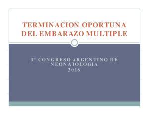 TERMINACION OPORTUNA 3 CONGRESO ARGENTINO DE