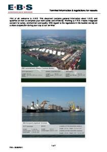 Terminal information & regulations for vessels