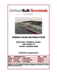 TERMINAL RULES AND REGULATIONS