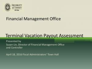 Terminal Vacation Payout Assessment