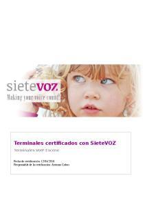 Terminales certificados con SieteVOZ Terminales VoIP Escene