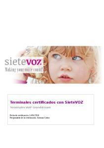 Terminales certificados con SieteVOZ Terminales VoIP Grandstream