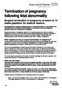 Termination of pregnancy following fetal abnormality
