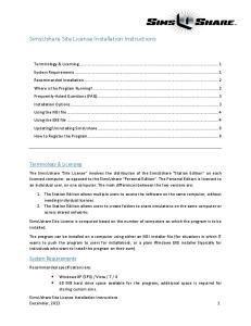 Terminology & Licensing
