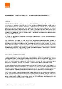 TERMINOS Y CONDICIONES DEL SERVICIO MOBILE CONNECT