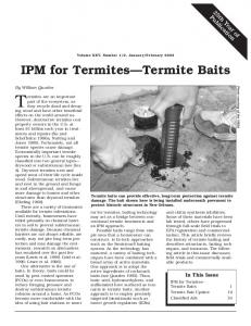 Termites are an important