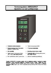 Termoregulator AMR202RGT Uputstvo za rad i priključenje
