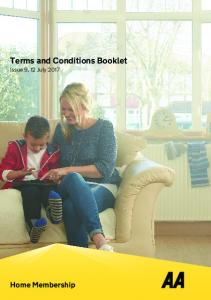Terms and Conditions Booklet
